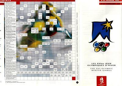 1st Olympic Assoc Climbing Event Albertville 1992 Chambery Climbing Championship Brouchure