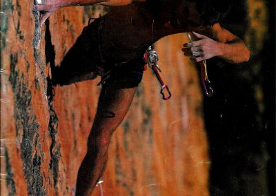Australian Rockclimber Magazine Cover - Geoff Weigand Serpentine 2nd Ascent