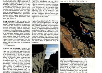 Australian Wild Magazine - Geoff Weigand first 5.14 climbing news