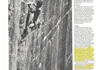 Mountain Magazine UK news - Geoff Weigand sets new NSW standard Shimmering grade 28 Cosmic County Blue Moutains