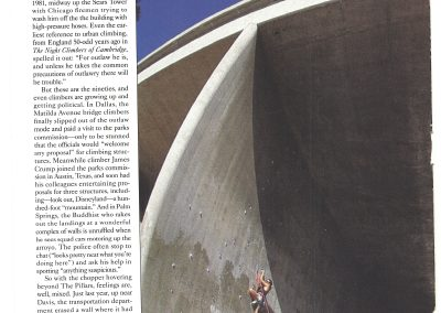 Outside Magazine Feature - Geoff Weigand - LA Freeways climbing