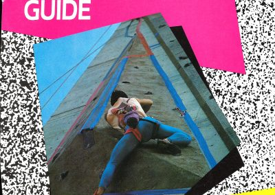 Sport Climbing Rule Book Cover - Snowbird Invitation Pro Climbing Championship Geoff Weigand (8th place)- Shown first competitior