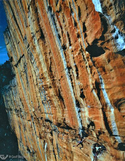 Geoff Weigand, 2nd Ascent Serpentine 5.13, Taipan Wall, Grampians, Australia